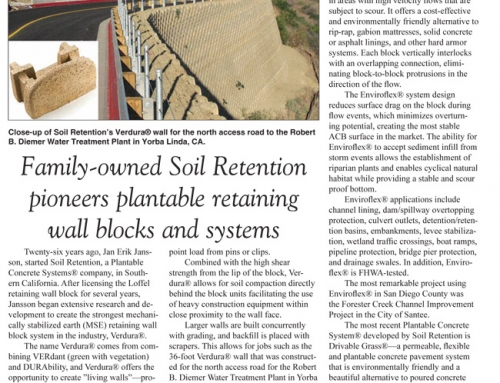 Copywriting – Article EGCC Magazine For Soil Retention