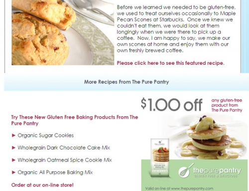 Email Marketing – The Pure Pantry Featured Recipe