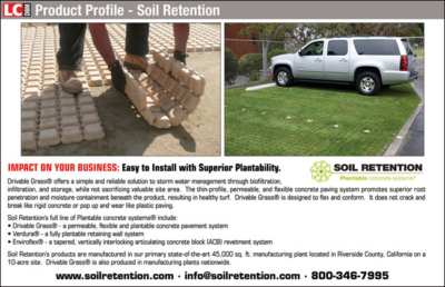 Advertisement Design and Layout for Carlsbad Company Soil Retention