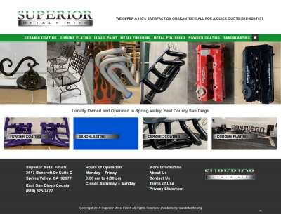 Custom Website Development For East County Company Superior Metal Finish